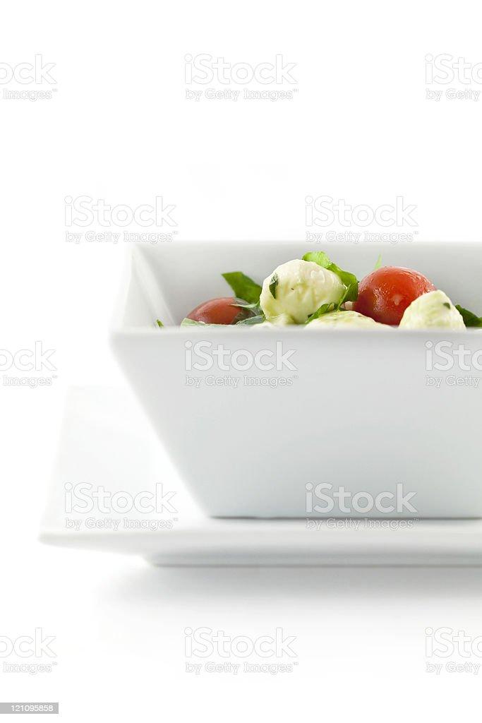 Mozzarella Tomato Basil Salad stock photo