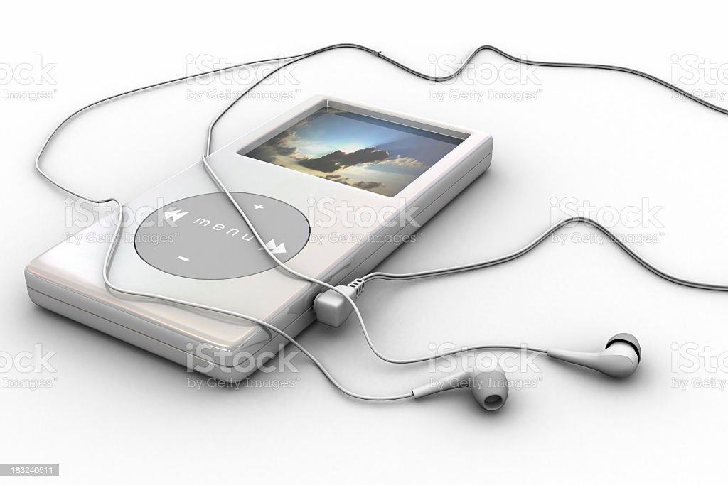 mp3 player royalty-free stock photo