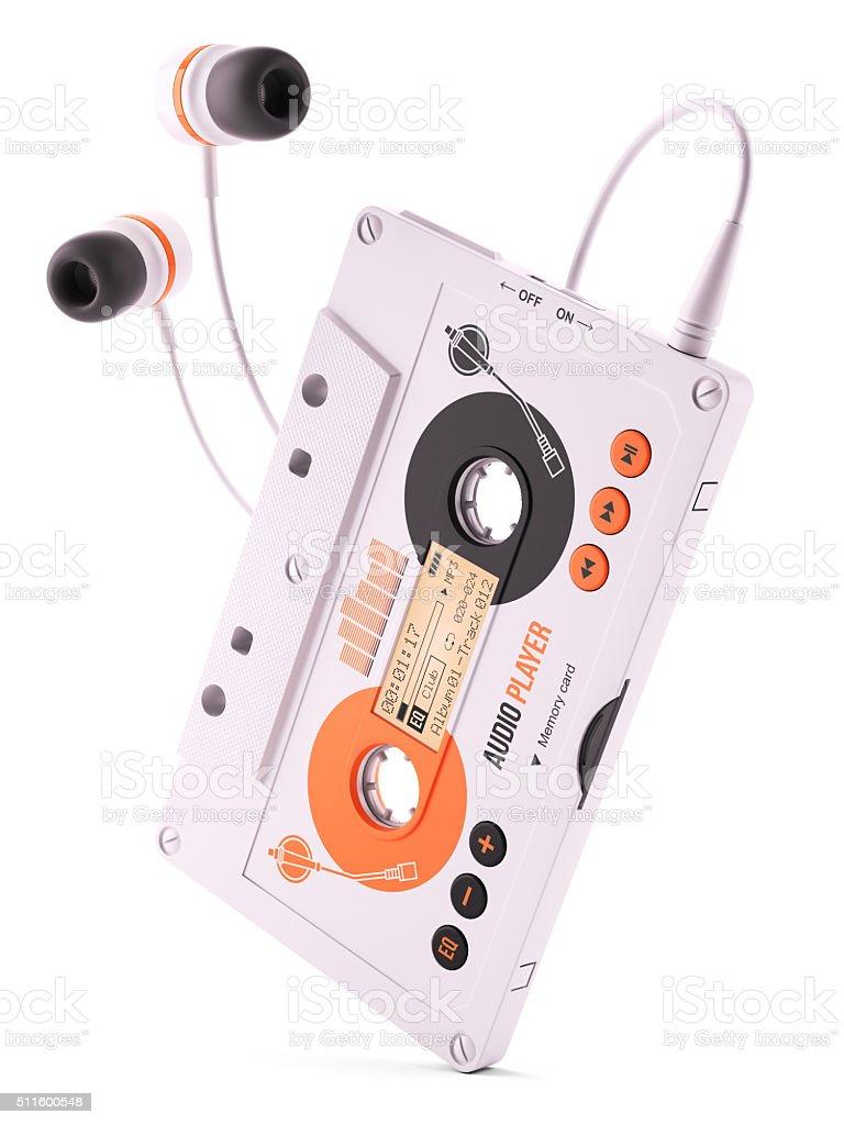 Mp3 portable musical casette player. stock photo