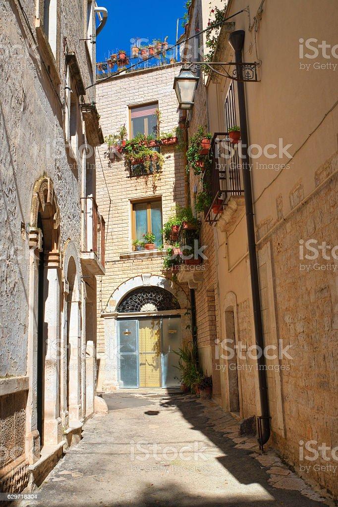 Alleyway. Acquaviva delle fonti. Puglia. Italy. stock photo