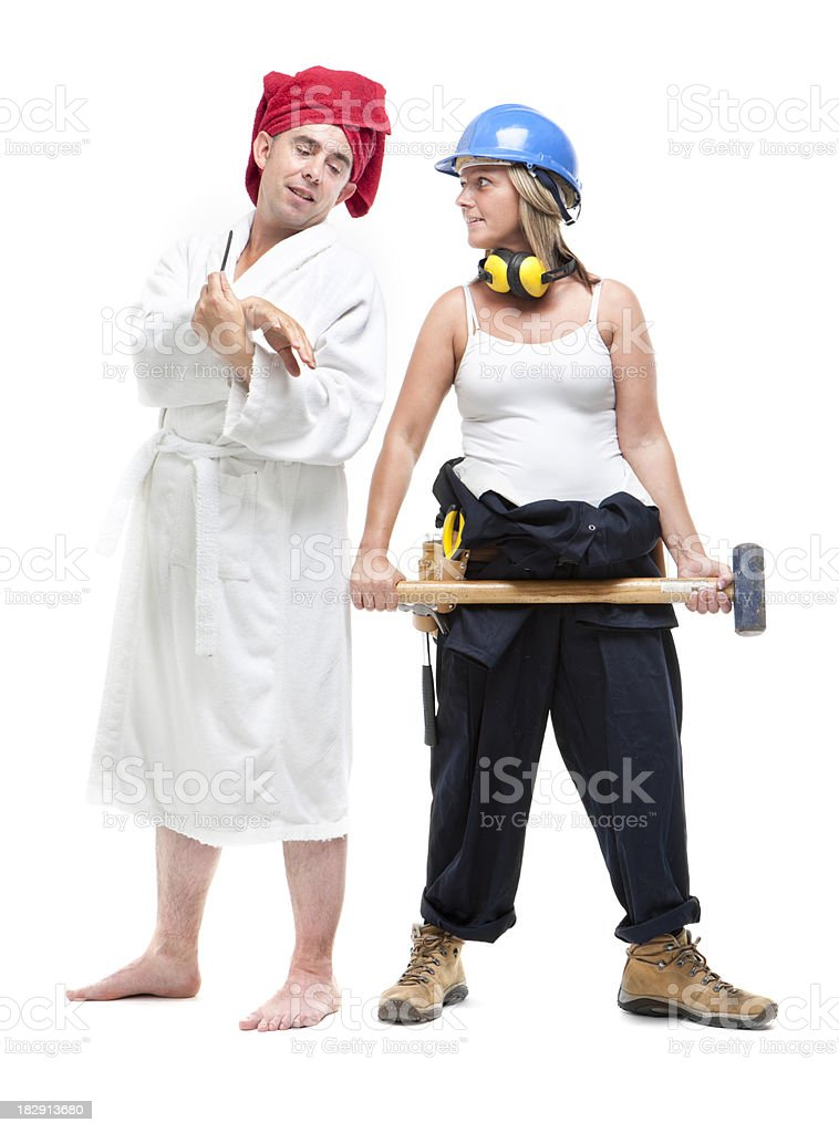 Mr and Mrs royalty-free stock photo