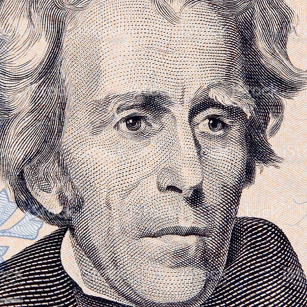 Mr. Andrew Jackson stock photo