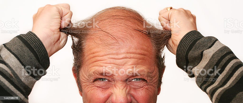 Mr Angry stock photo