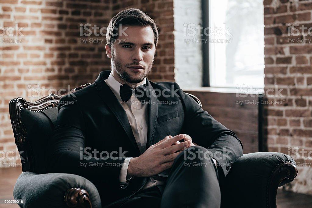 Mr. Confidence. stock photo