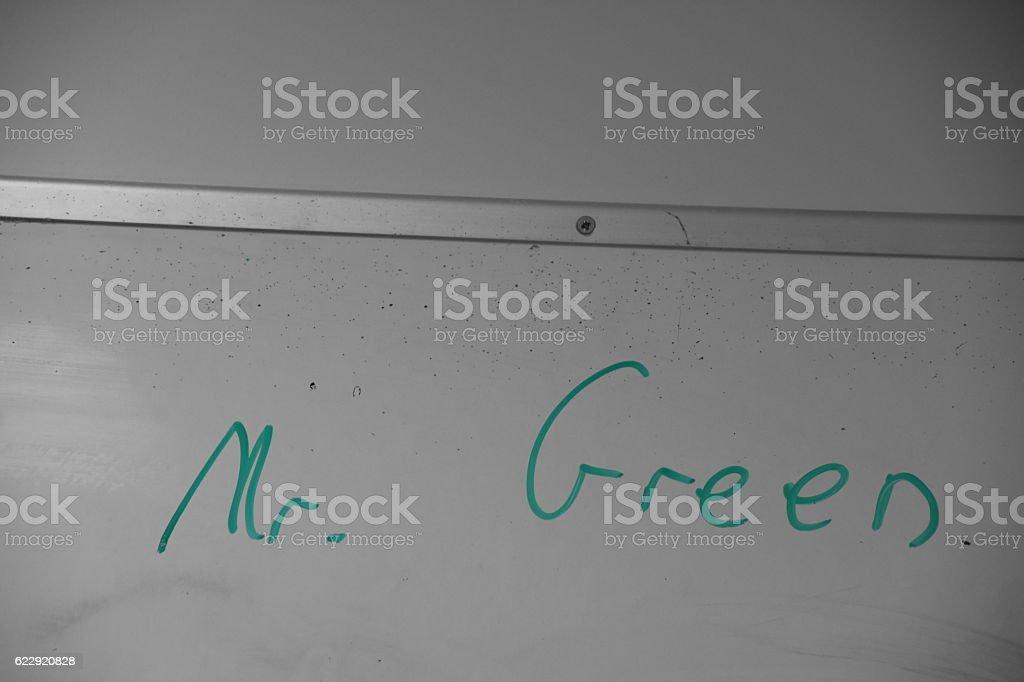 Mr. Green stock photo