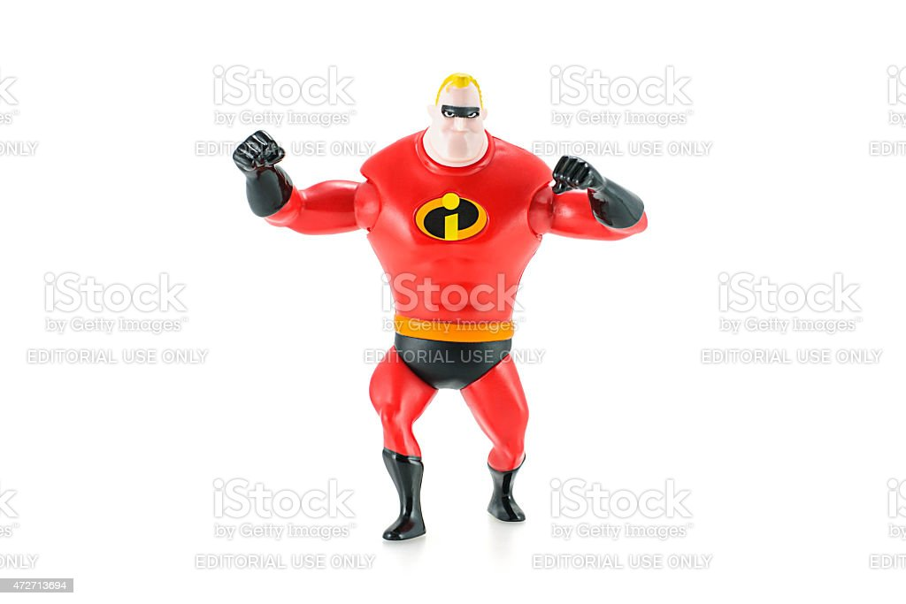 Mr. Incredible figure toy character. stock photo