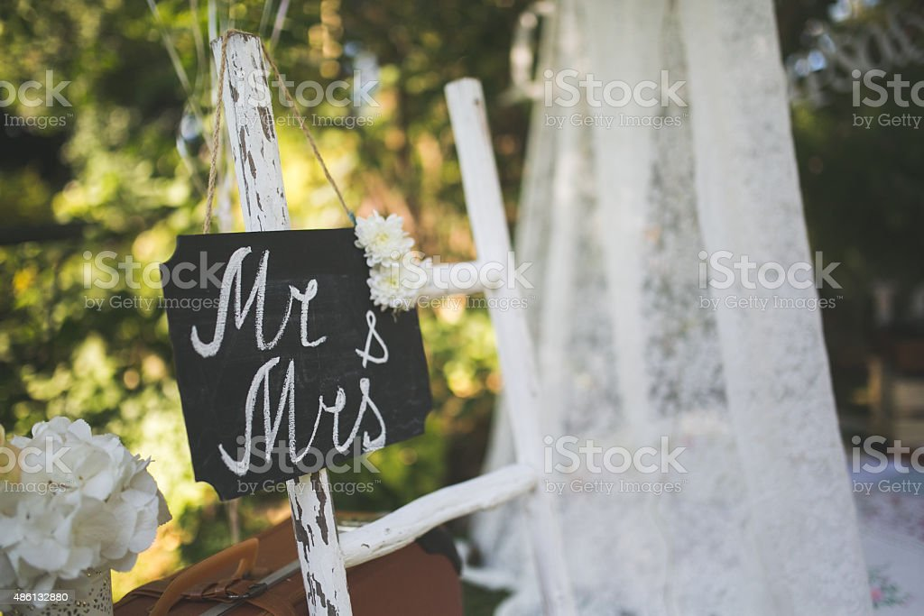 Mr & Mrs! stock photo
