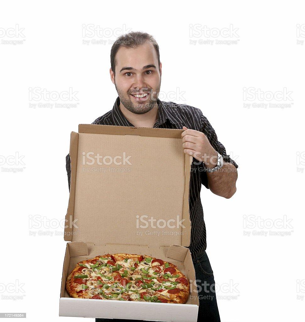 Mr. Pizza royalty-free stock photo
