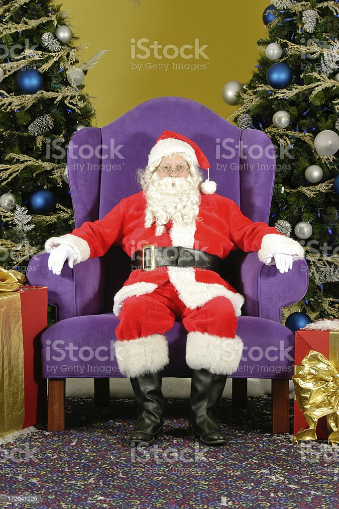 Mr. Santa Claus at your service royalty-free stock photo
