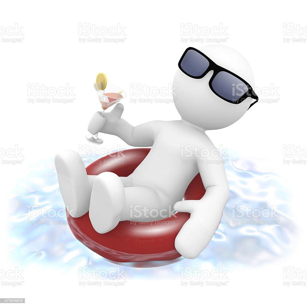 Mr. Smart Guy entspannt im Pool stock photo