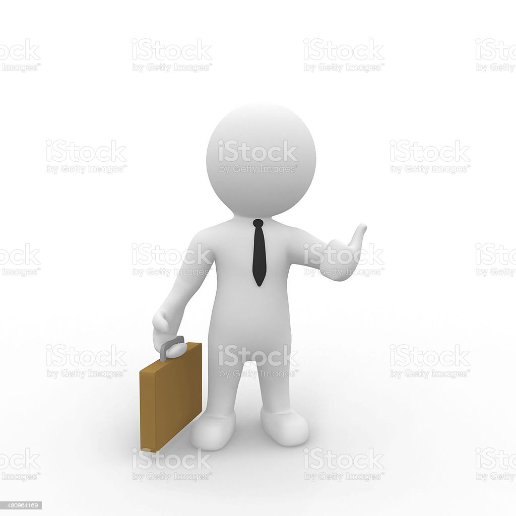Mr. Smart Guy Thumbs Up royalty-free stock photo