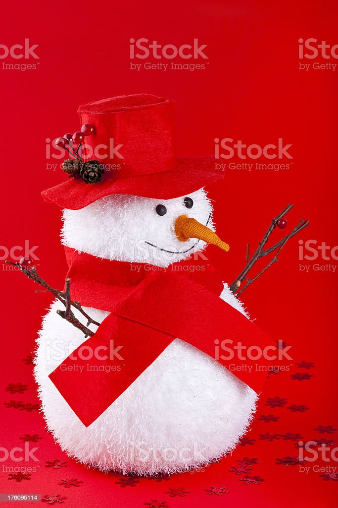 Mr. Snowman royalty-free stock photo