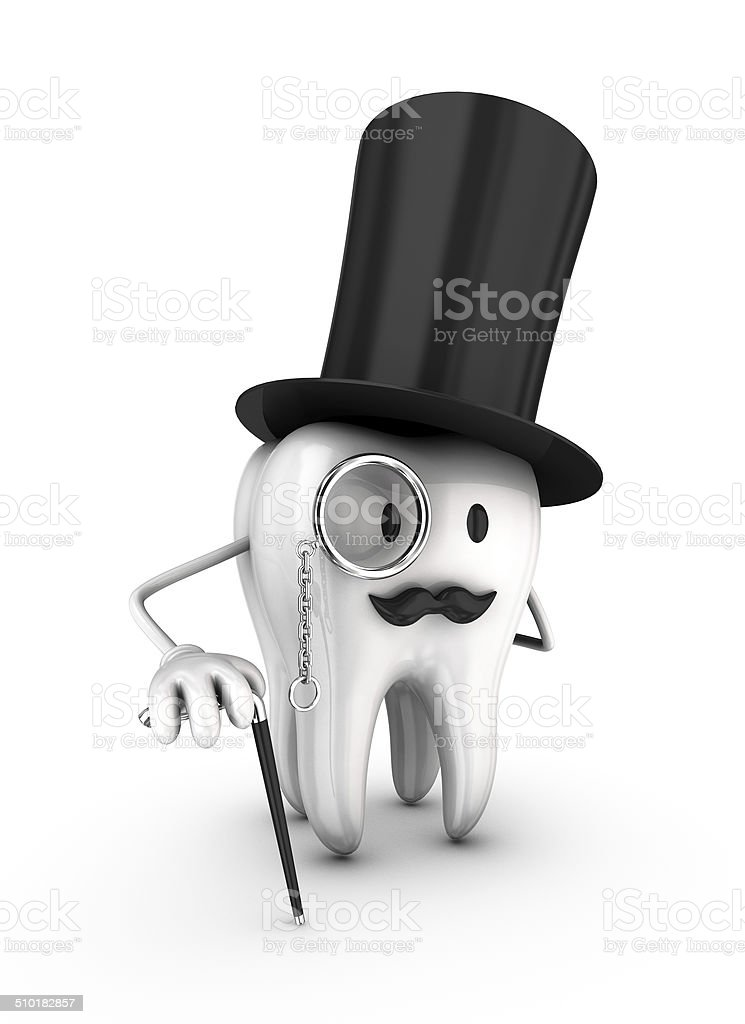 Mr. Tooth royalty-free stock photo