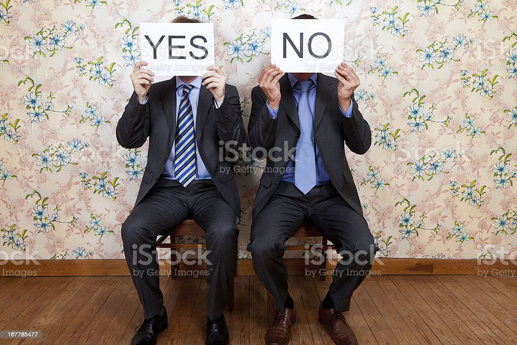 Mr Yes and No - faceless royalty-free stock photo