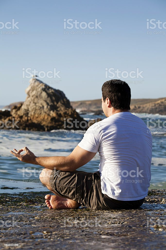 Mr Yoga royalty-free stock photo