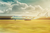 Mriya, the largest aircraft ever built, departs from Hostomel Airport
