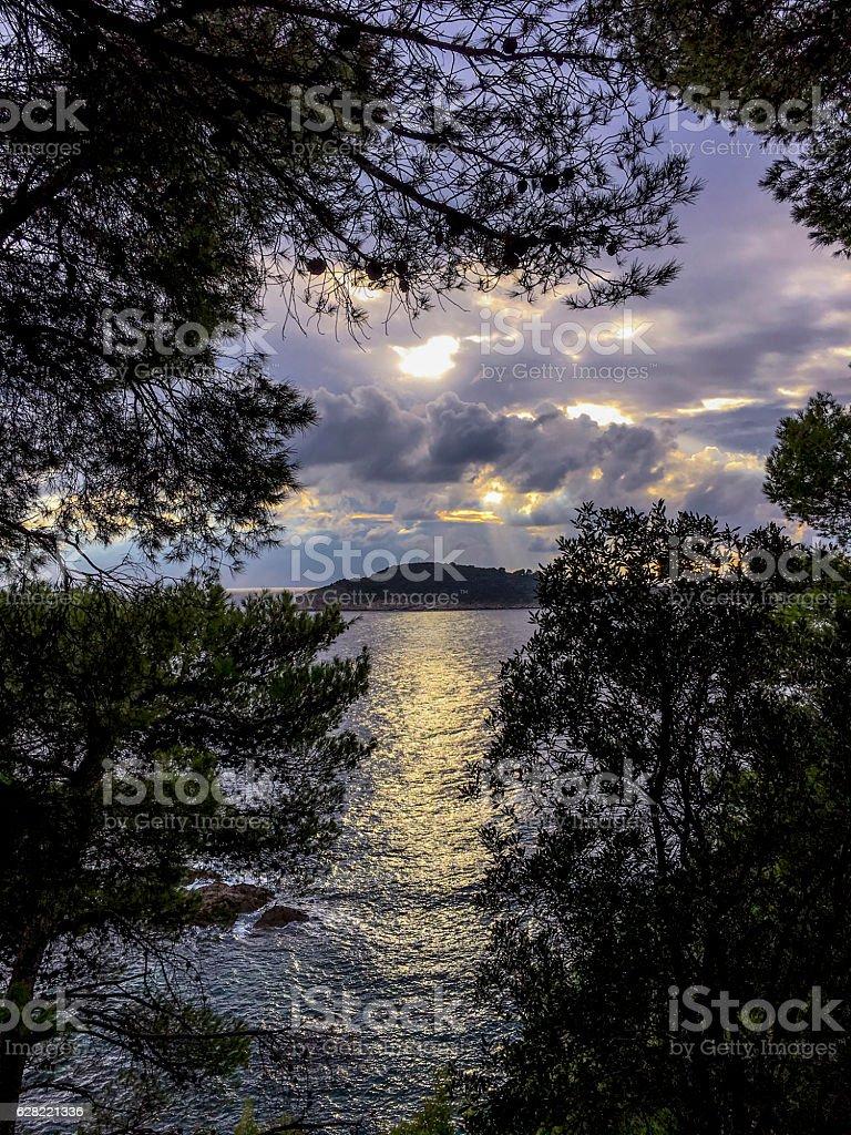 Mrkan Island from Sustjepan Peninsula_Cavtat_Croatia stock photo