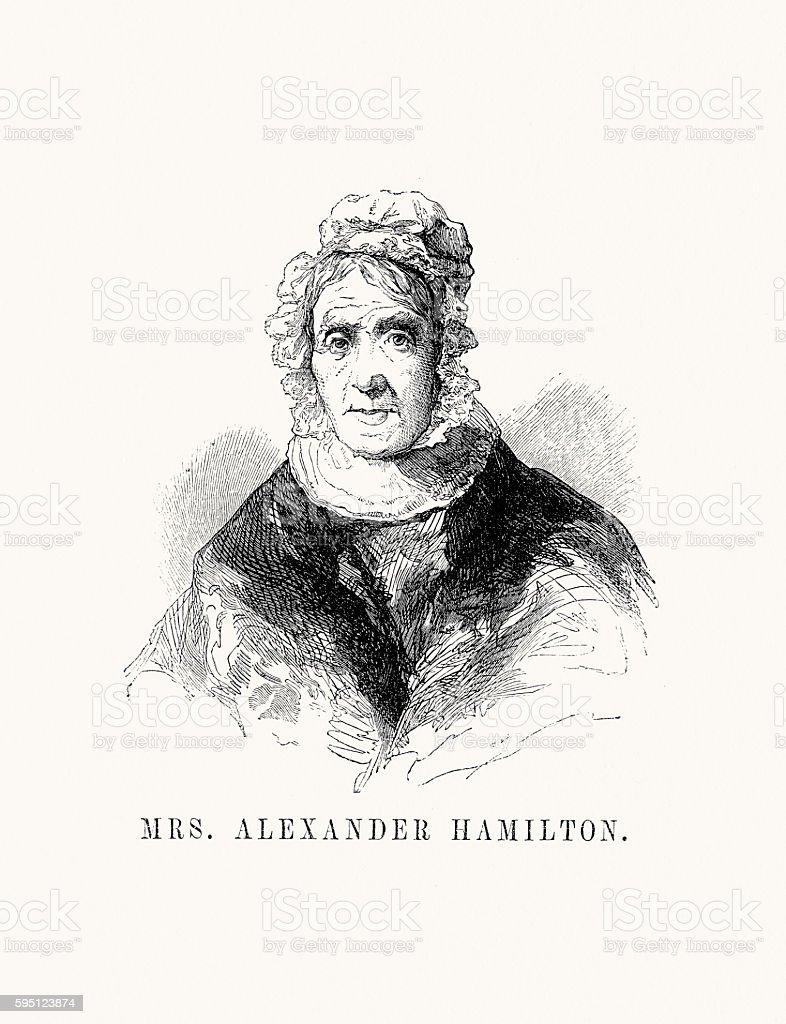Mrs. Alexander Hamilton stock photo