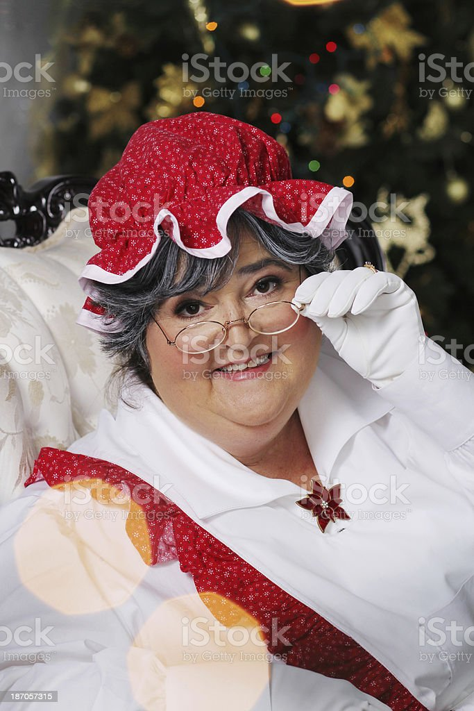 Mrs. Claus royalty-free stock photo