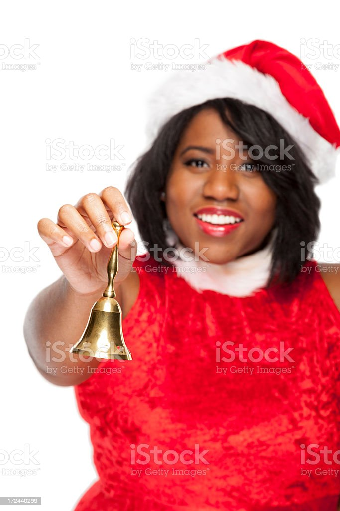 Mrs. Claus with bell royalty-free stock photo