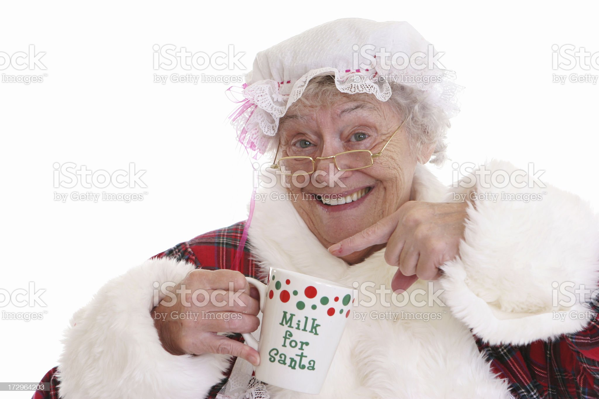 Mrs Clause Series royalty-free stock photo