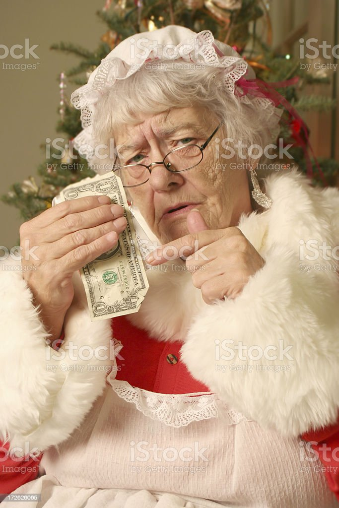 Mrs Clause's Cheap Christmas stock photo