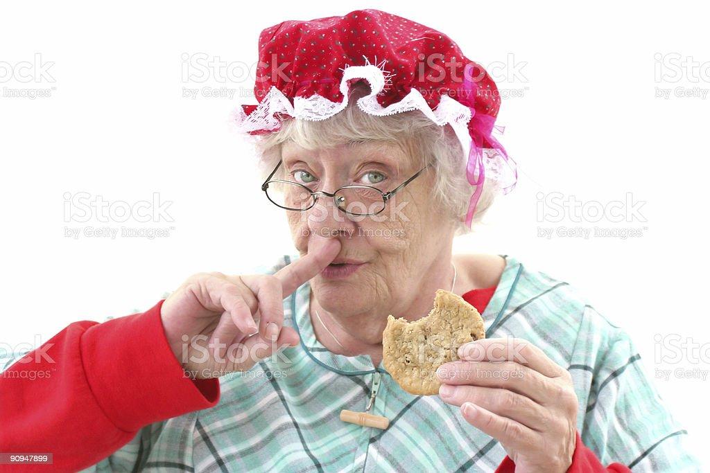 Mrs Claus's secret stock photo
