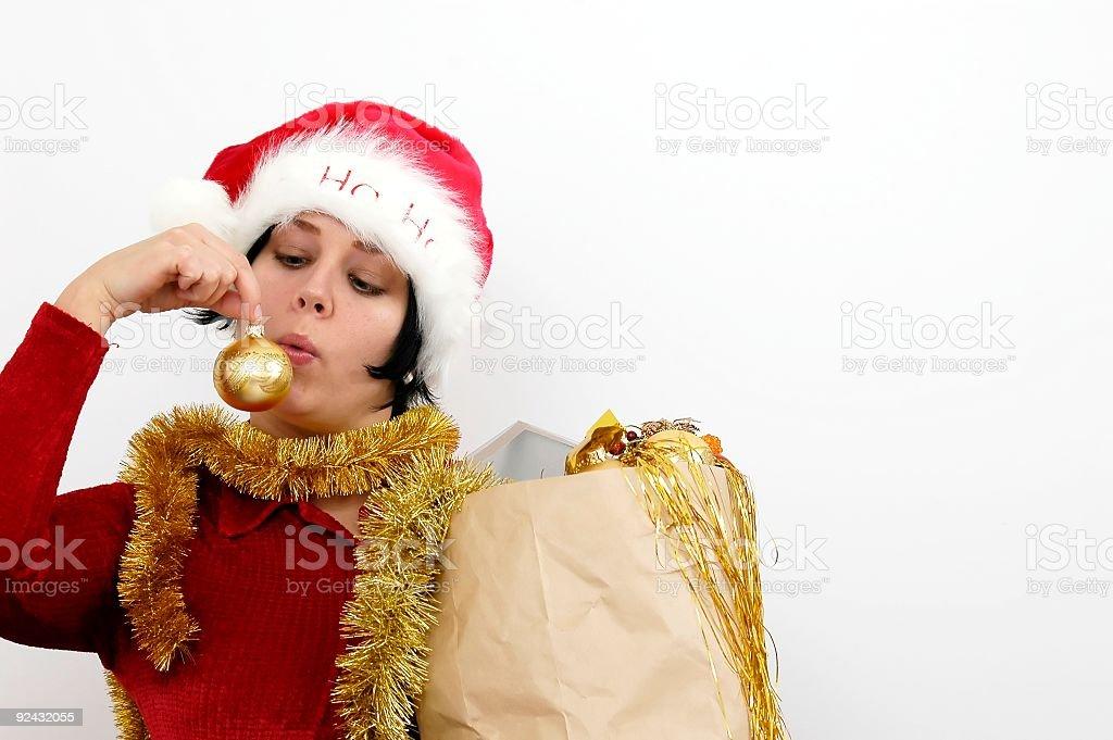 Mrs Santa Claus royalty-free stock photo