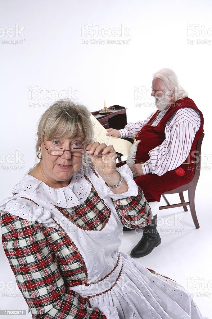 Mrs. Santa Comments 4 royalty-free stock photo