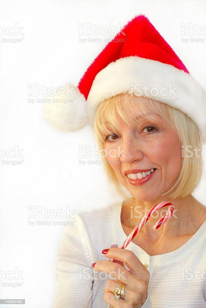 Mrs Santa royalty-free stock photo