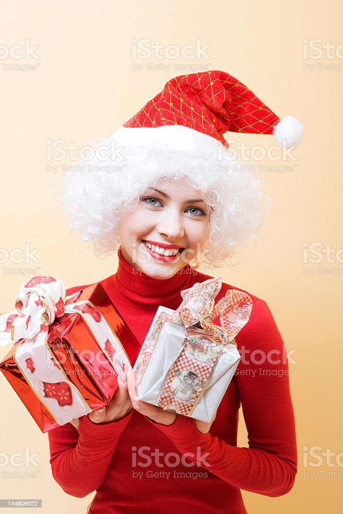 Mrs. Santa royalty-free stock photo