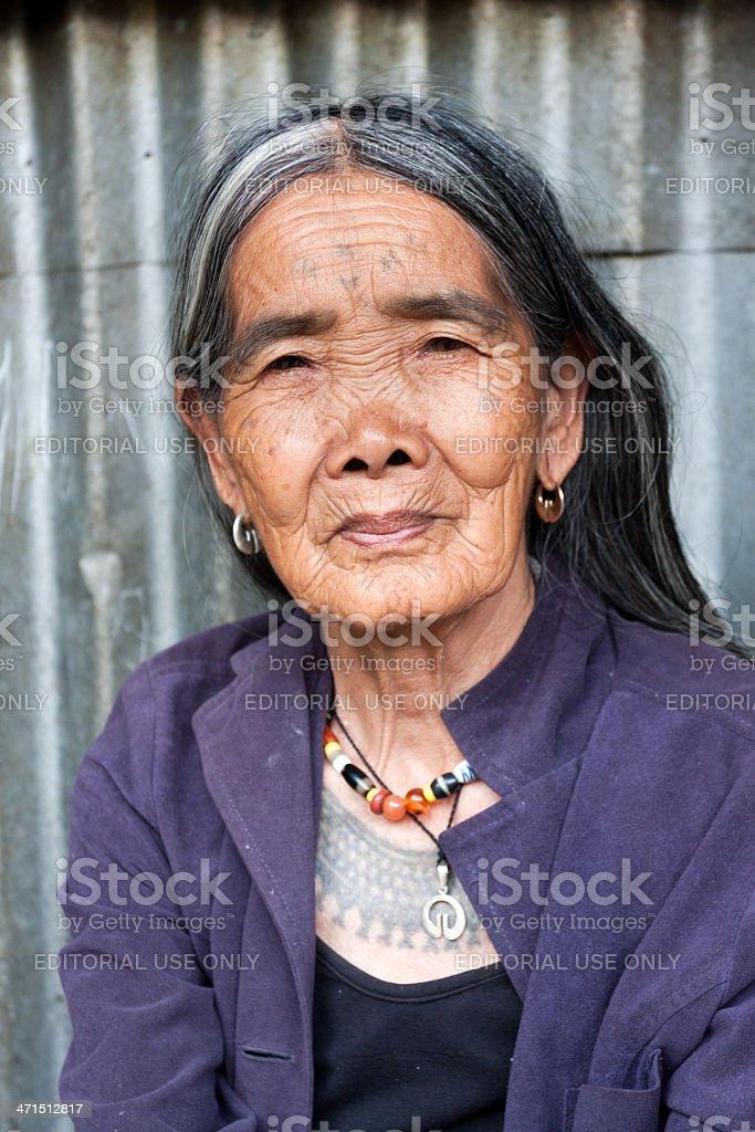 Mrs Whang Od. stock photo
