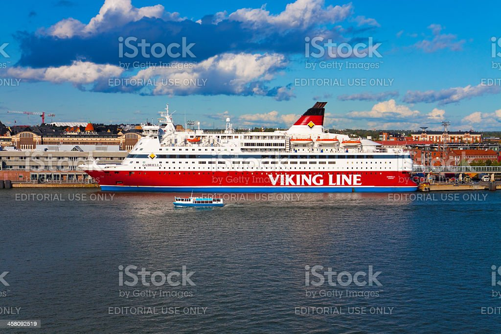 M/s 'Gabriella' (Viking Line) docked in the port of Helsinki royalty-free stock photo
