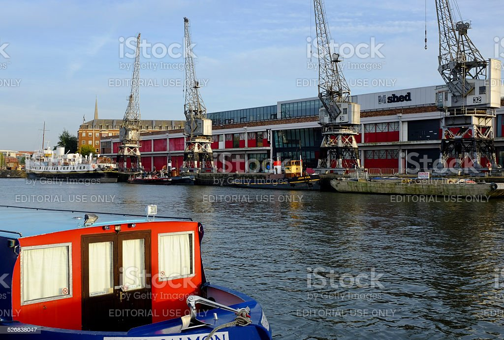 MShed museum and the Floating Harbour, Bristol stock photo