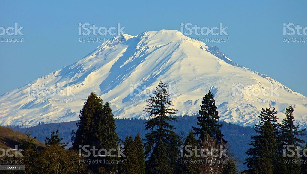 Mt. Adams Blue Ice stock photo