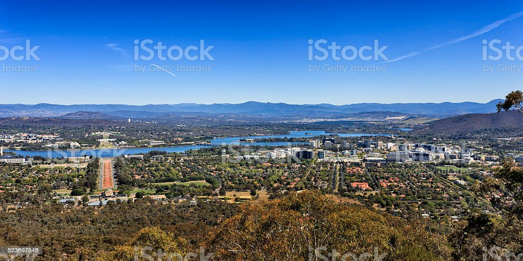 CAN Mt Ainslie Short panorama stock photo