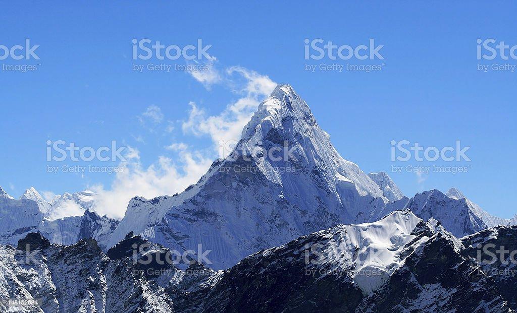 Mt. Ama Dablam in the Himalayas stock photo