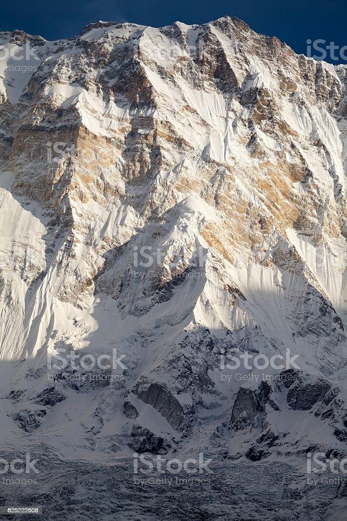 Mt. Annapurna I from Annapurna Base Camp, Annapurna Sanctuary, Nepal stock photo