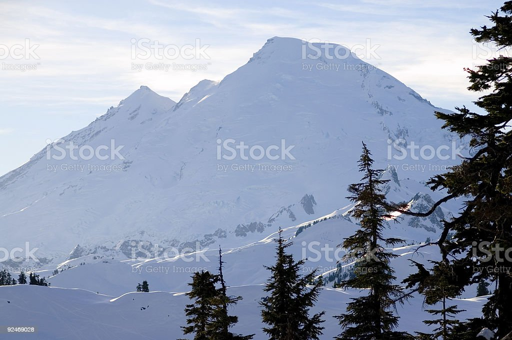 Mt Baker - Afternoon sunlight royalty-free stock photo