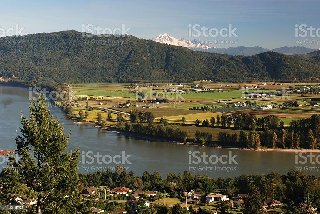 mt. baker and fraser valley stock photo