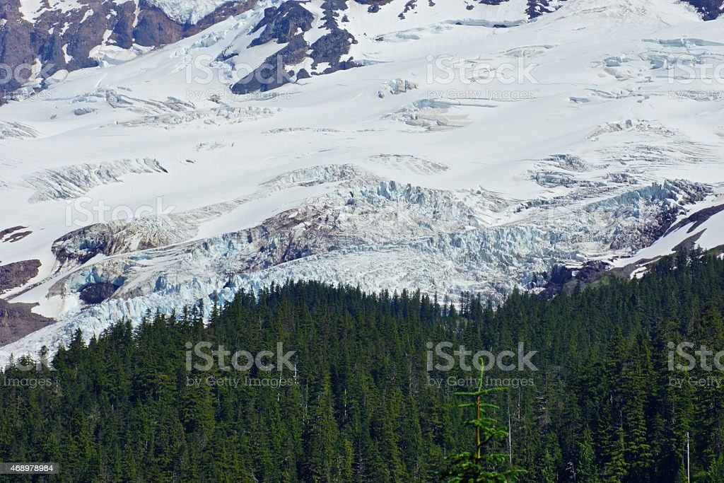 Mt. Baker Deep Ice stock photo
