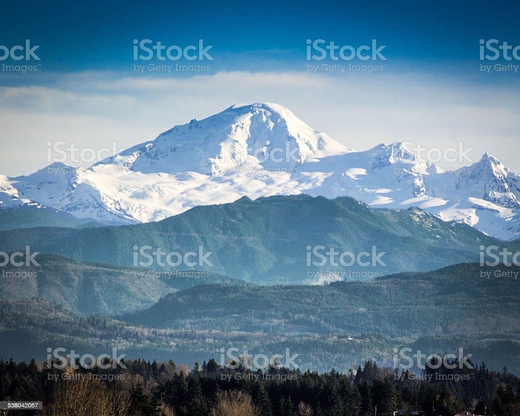 Mt Baker stock photo