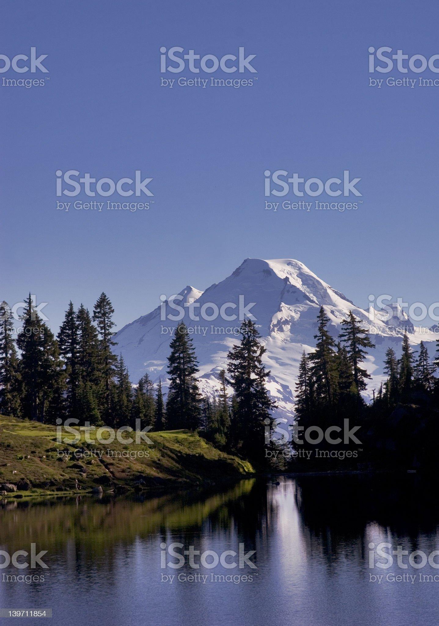 Mt. Baker Reflection royalty-free stock photo