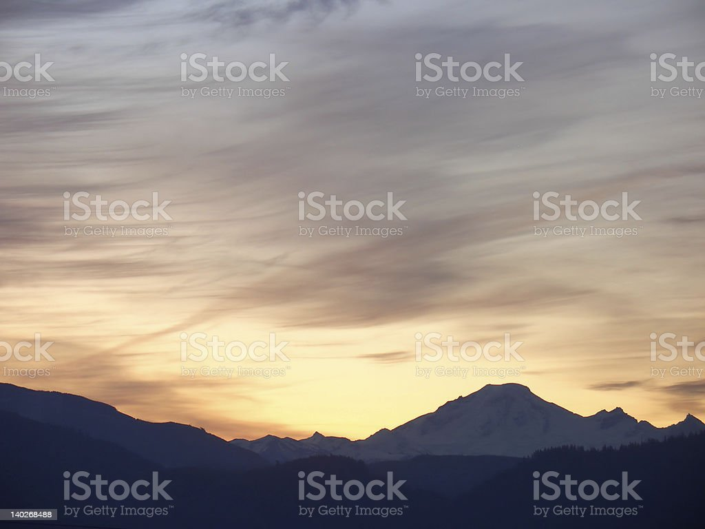 Mt. Baker Sunrise royalty-free stock photo