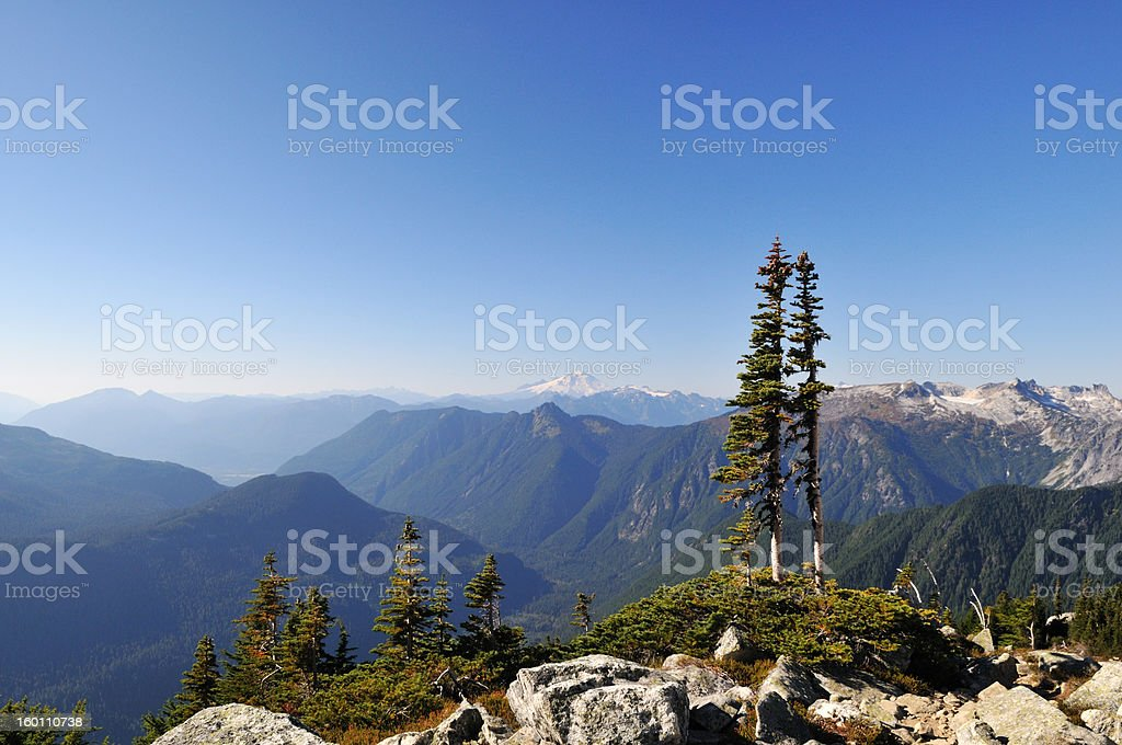 Mt. Baker Viewed from Hidden Lake trail royalty-free stock photo