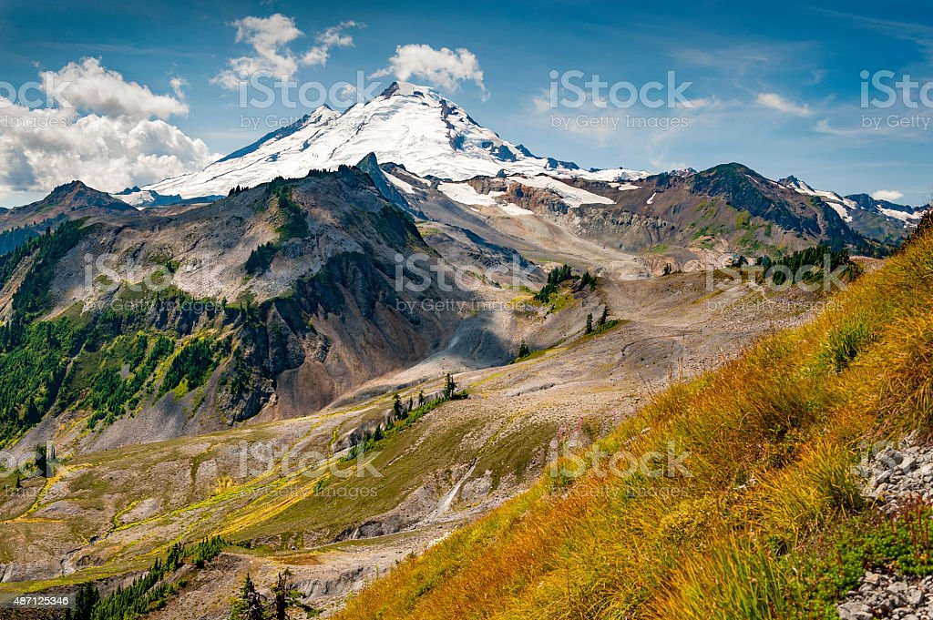 Mt. Baker, Washington. stock photo