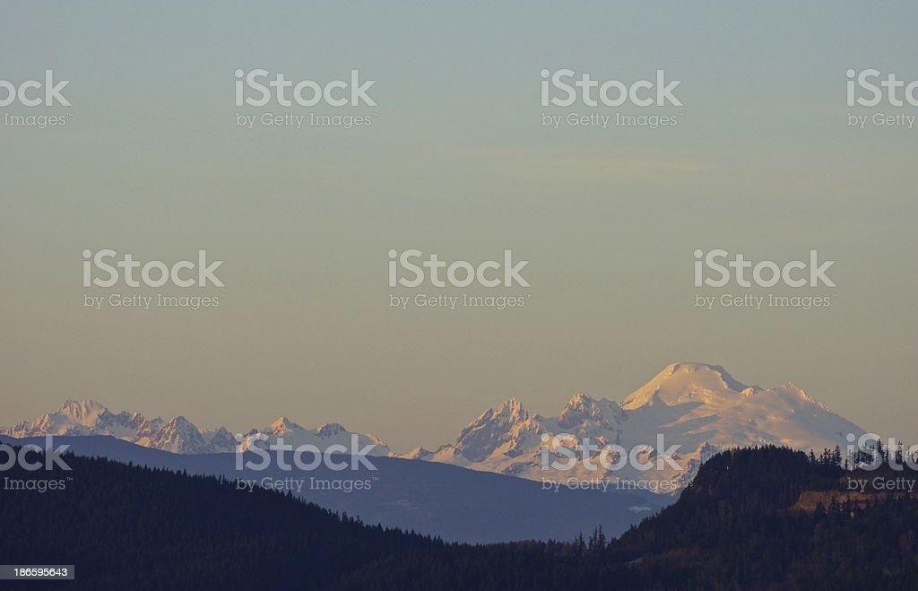 Mt. Baker Wilderness Glow stock photo