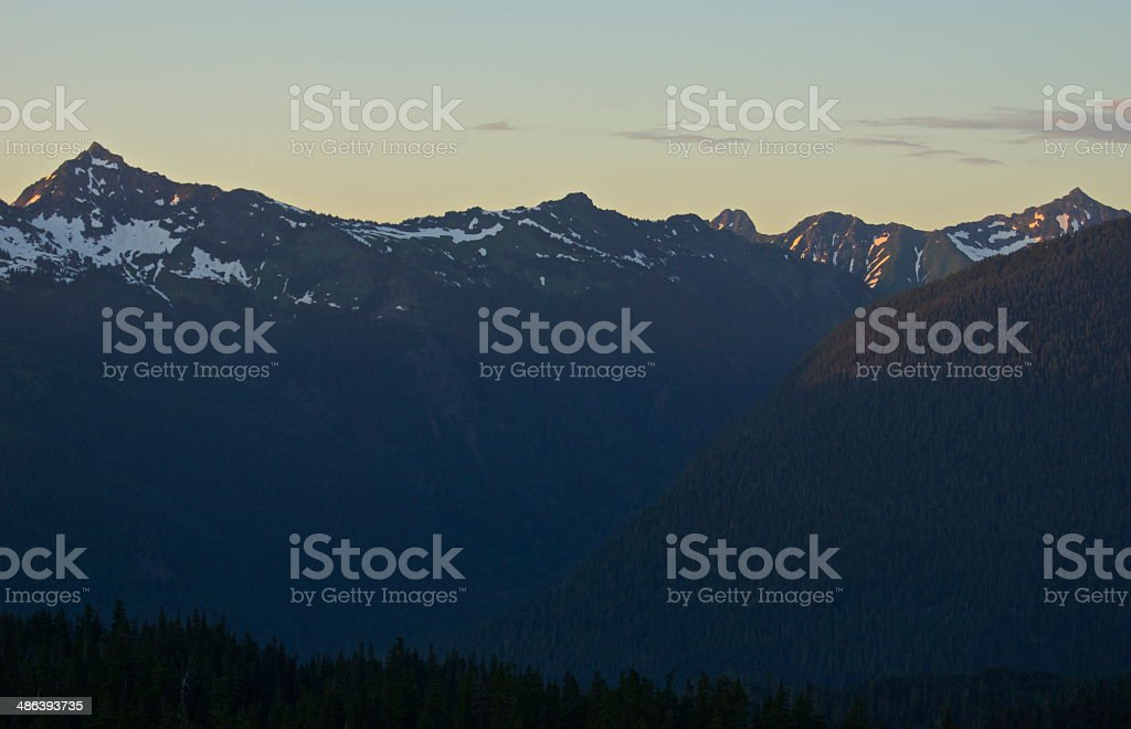 Mt. Baker Wilderness Purple stock photo