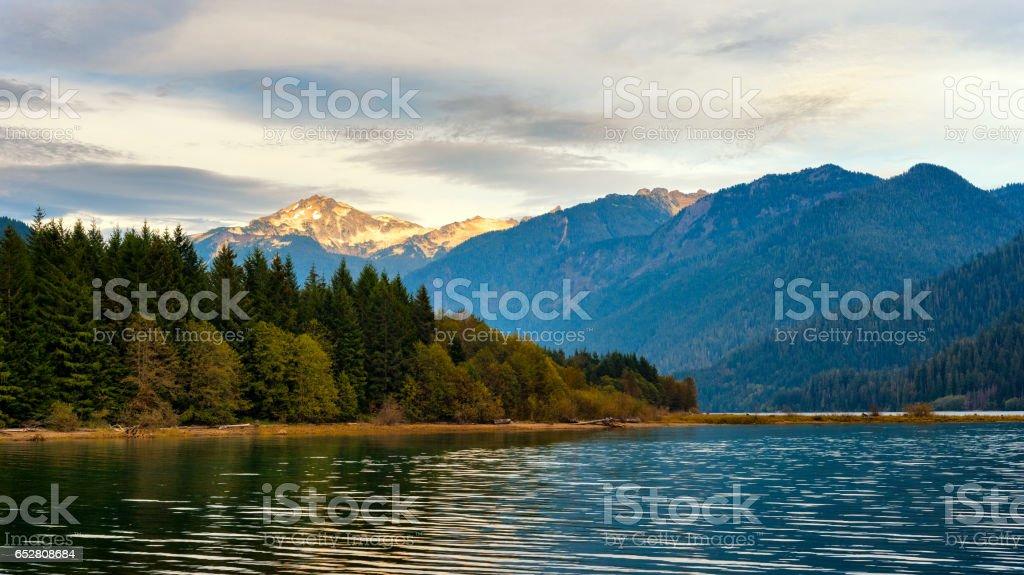 Mt Blum and Baker Lake stock photo