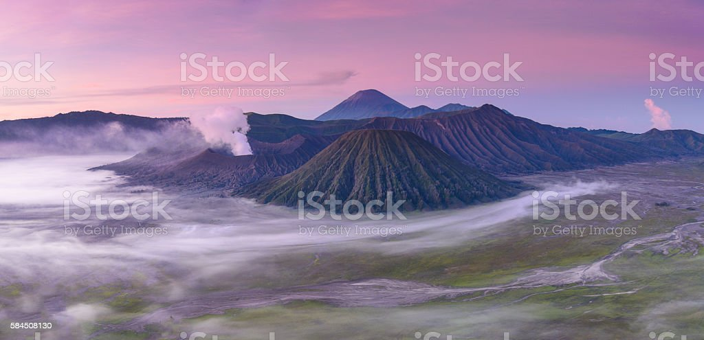 Mt Bromo sunrise stock photo